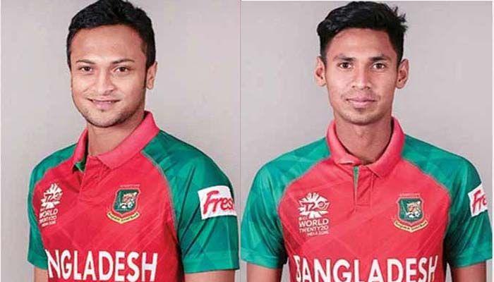 (From left) Shakib Al Hasan and Mustafizur Rahman || Photo: Collected