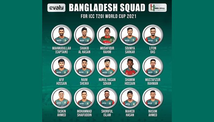 BCB Announces Squad for T20 World Cup 2021