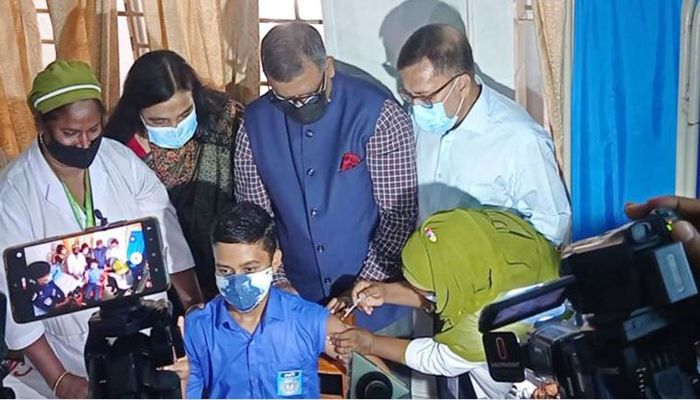 Test Run for Vaccination for School Students Started Today    Photo: Collected